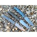 LionSteel Thrill Titan Vollintegral M390 Stahl Zweihand Slipjoint grau bronze blau
