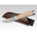 Linder Karelia Hunter Ausgesuchte Maserung  2 ATS34 Premiumstahl Maserbirke Jagdmesser