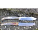 2 Steakmesser  Viper Tecnocut Italien Costata AISI 440 Stahl Horn-Griff Clip-Point Klinge VT7504/02CO