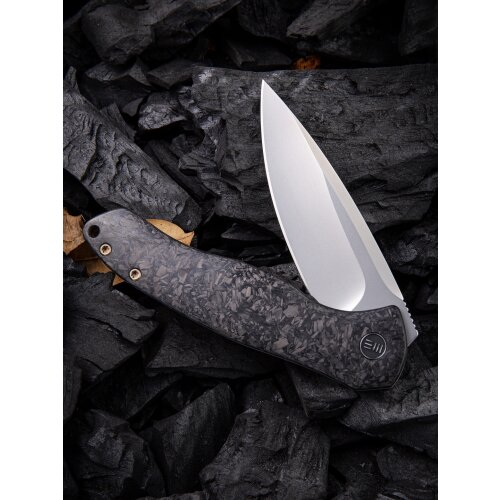 WE Knife Kitefin WE2001 CPM S35VN Stahl Shredded  Carbon Titan Grau Keramikkugellager