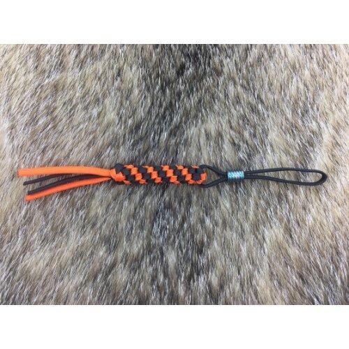 WE knife Paracord Lanyard A-01 orange / schwarz mit Bead Türkis