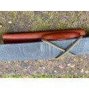 Wanger Leder-Gürtel-Scheide Gen II vegetabil Cognac-Braun für Drugar Bushcraft Patriot u.A. mit Feuerstarter-Halter auch horizontal