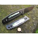 WOC Gen II Wanger Outdoor Cutter 9Cr18MoV HRC 58 - 60 Jimping Schwarz