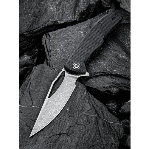 CIVIVI Shredder C912 Damast Stahl  G10 Black Kugellager Damascus