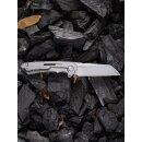 WE Knife WE2003 Mini Buster CPM 20CV Stahl Titan Grau Design Snecx Tan