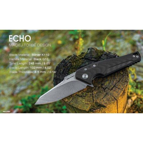Real Steel Echo K110 Stahl G10 schwarz Design Maciej Torbe