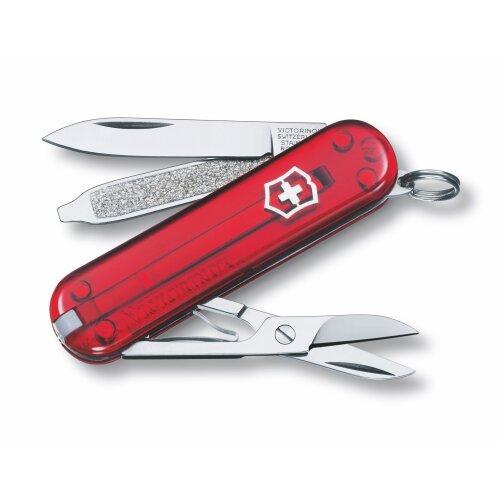 Victorinox Classic SD Rubin Transparent kleines Taschenwerkzeug Schweizermesser Schlüsselanhänger Minimesser