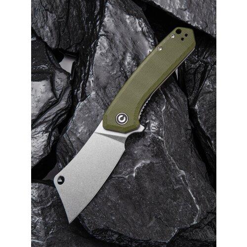 CIVIVI Mini Mastodon C2011 9Cr18Mov Stahl Stonewashed G10 grün