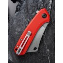CIVIVI Mini Mastodon C2011 9Cr18Mov Stahl Stonewashed G10 rot