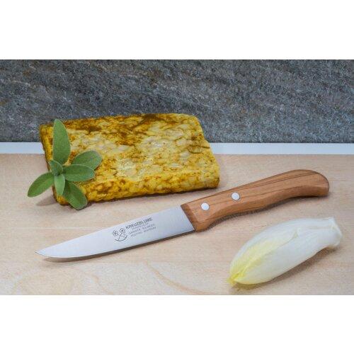 Steakmesser Olivenholz-Griff Kreuzblume Solingen