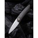 WE Knife Black Void Opus Stonewashed Titan Schwarz Twill...