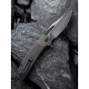 CIVIVI Ortis Damast Stahl Black Hand rubbed Twill Carbon Fiber