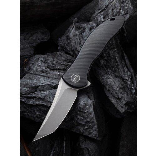 WE Knife Mini Synergy CPM 20 CV Stonewashed Titan Schwarz Tanto
