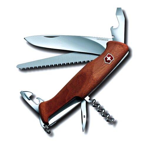 Ausgesucht schöne Maserung Victorinox RangerWood 55 Walnuss Holz Feststellklinge 0.9561.63 +