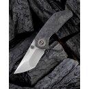 We Knife Thug CPM 20CV Grau Hand Rubbed Carbon Vorn Titan...