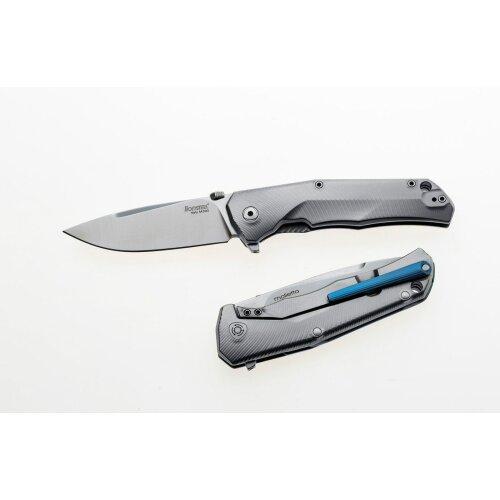 Messer LionSteel T.R.E. Titan Böhler M390 Stahl Clip blau Kugellager TRE BL