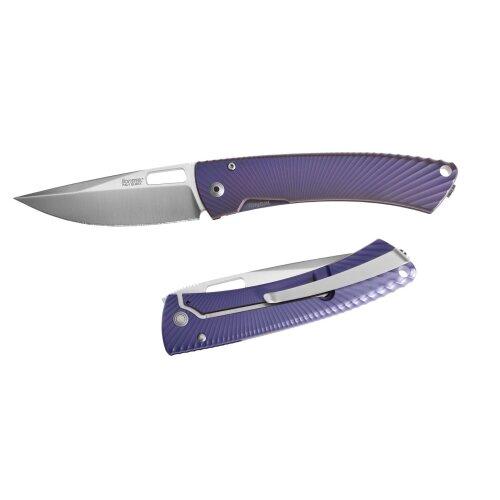 Messer LionSteel TiSpine purple Elmax Stahl Voll - Titan  Vollmetall TS1 VM