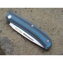 Messer Manly Comrade Groove HRC 59 bis 60° Blau...