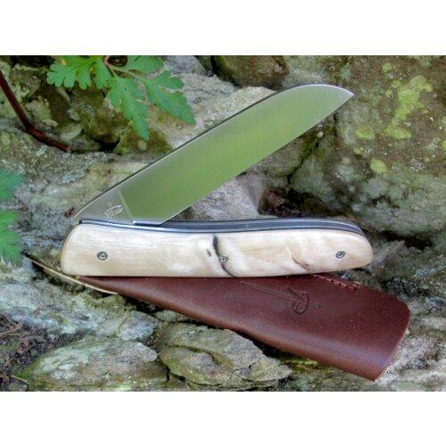 Atelier Perceval L08 Widderhorn Hell 19C27 Sandvik Vespermesser Brotzeitmesser