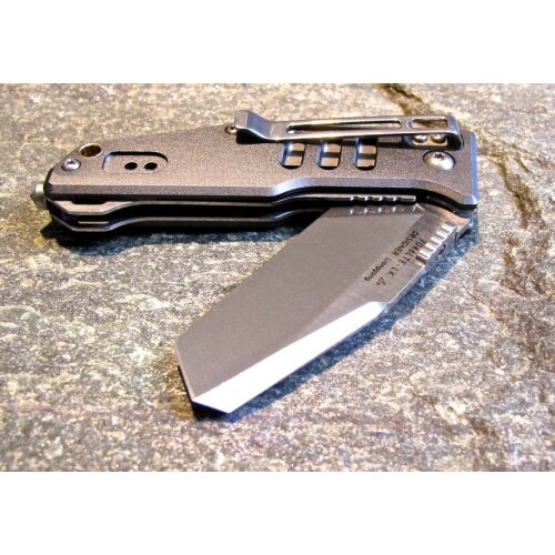 Sanrenmu 7046 Rettungsmesser Aluminium Silber 8Cr13Mov Stahl Frame-Lock