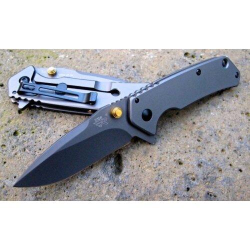 Messer Sanrenmu Fischermesser 7056 LUP-SK 8Cr13MoV Stahl Vollmetall Taschenmesser Flipper Frame-Lock