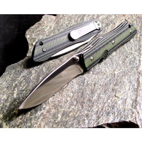 Messer Sanrenmu M1 Grün Schwarz Slip Joint  8Cr14Mov Stahl Outdoor 9051MUC-GPH
