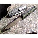 Messer Sanrenmu M1 Grün Schwarz Slip Joint  8Cr14Mov...