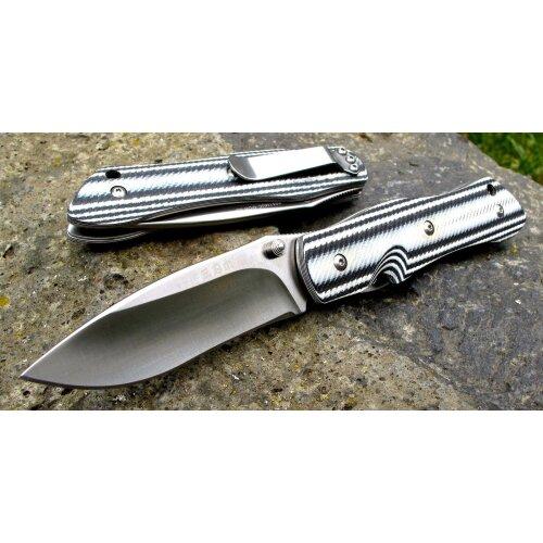 Sanrenmu M1 Schwarz Weiss Slip Joint  8Cr14Mov Stahl Outdoor 9051 MUC GOH