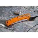 Messer Sanrenmu Stripes 42a Orange 4Cr15N Stahl Gentleman Vollmetall 7112RUC-LJ