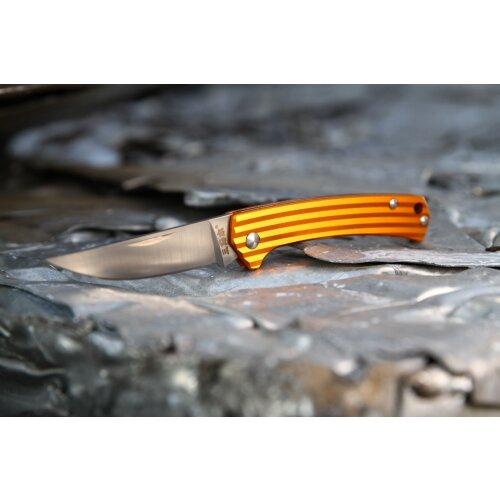 Sanrenmu Stripes Mini 42a Orange 4Cr15N Gentleman Vollmetall 4112SUX-LJ