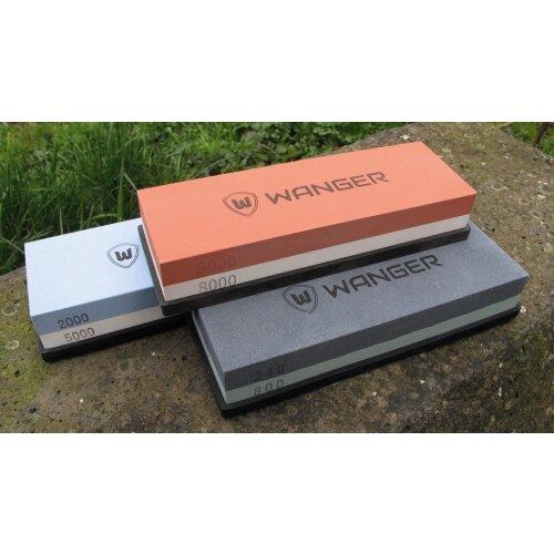 Profi Wasser Schleifstein WANGER 180 x 60 mm Doppelseitig mit Silikon Halter