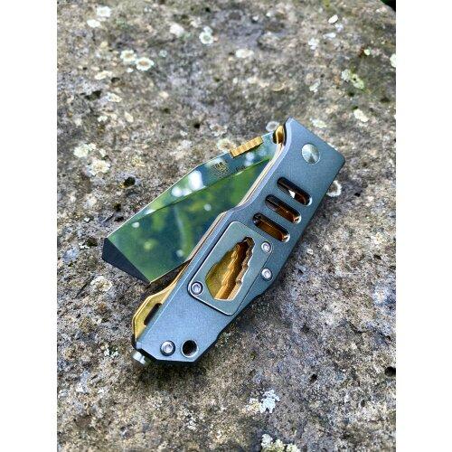 Messer Sanrenmu 7046 LTX-LKR-T3 Silver Tanto  8Cr13Mov Stahl Vollmetall Frame-Lock