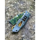 Sanrenmu 7046 Rettungsmesser Aluminium Silber-Gold...